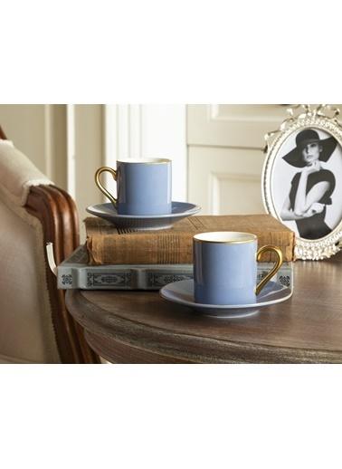 Madame Coco Phillipa 4'lü Kahve Fincan Takımı Mavi
